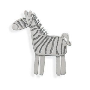 Barking Zebra pin