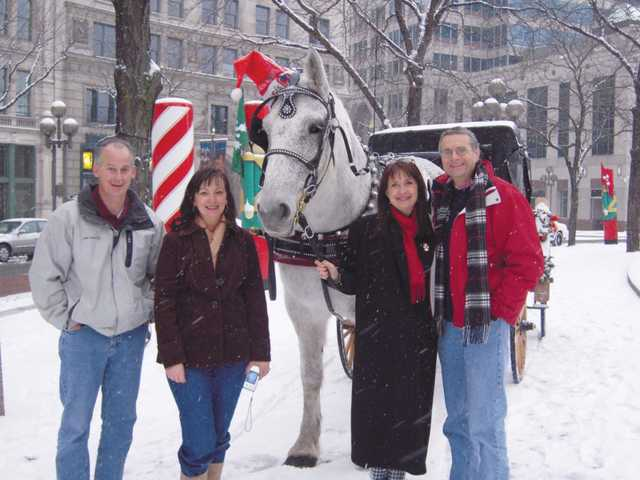 Don Lifftle (far right), a pancreatic neuroendocrine tumor survivor, his wife Debbie and friends, Jerry and Beth lathem