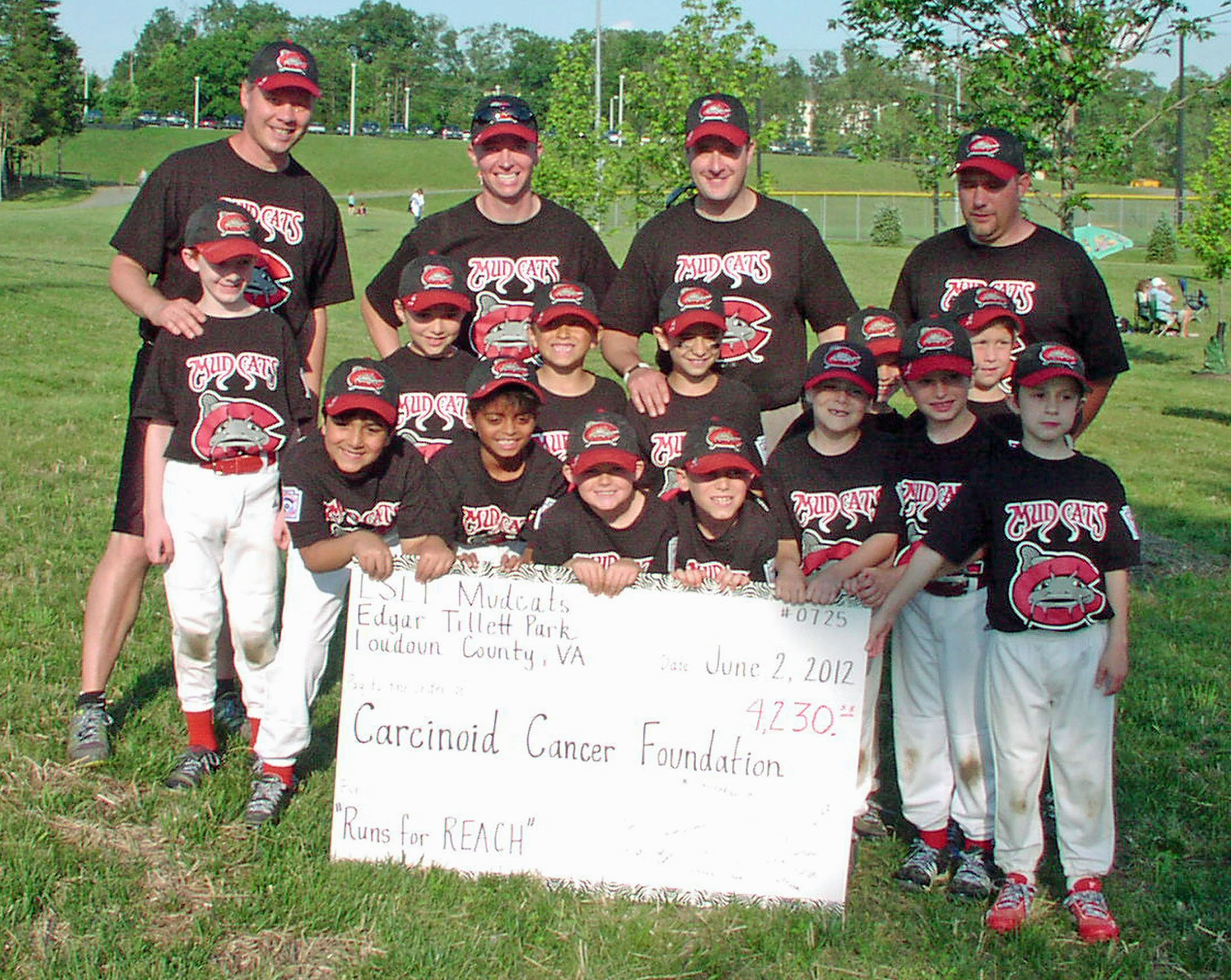 Mud Cats Little League Team Raises Awareness for Carcinoid Cancer and Funds for the Carcinoid Cancer Foundation