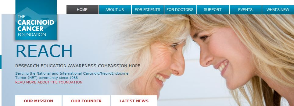Carcinoid Cancer Foundation website homepage