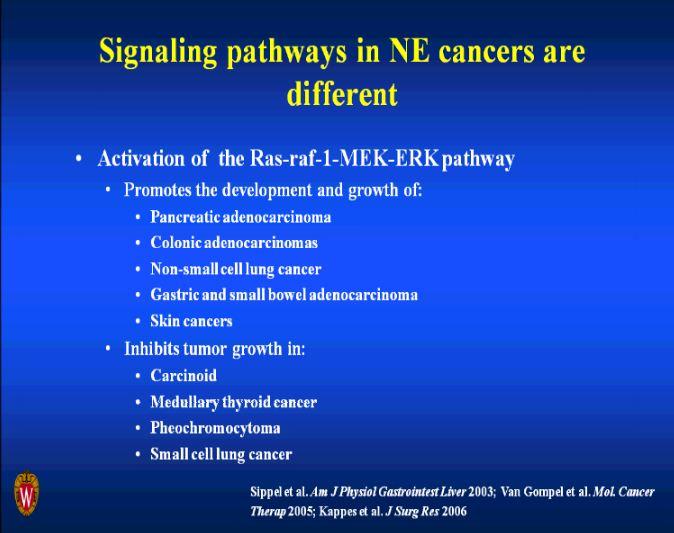 Signaling Pathways in Neuroendocrine Tumors