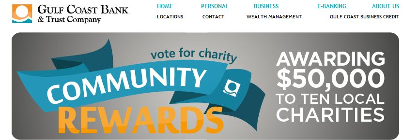 Vote for Carcinoid Research Fund in Gulf Coast Bank Community Rewards Competition