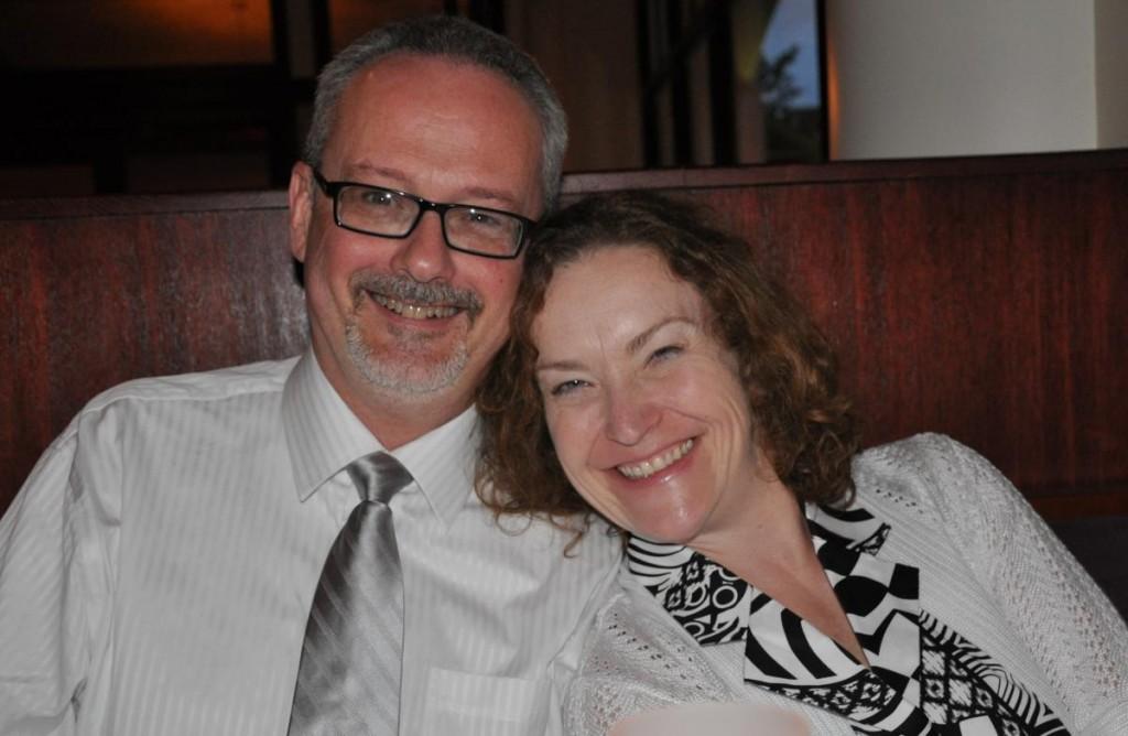 Cara and John, wedding day, June 2011