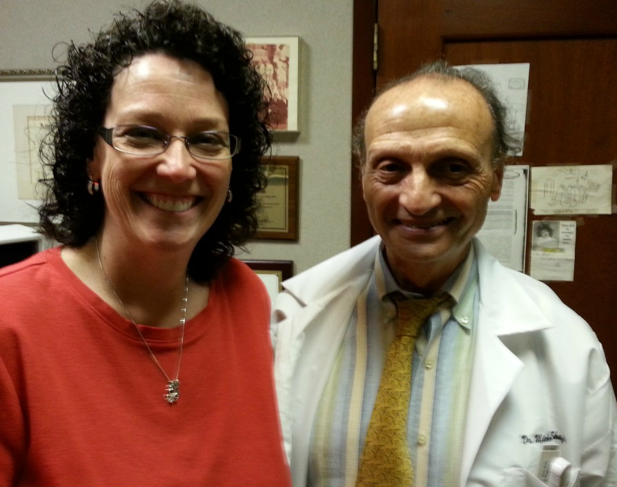 Jackie Gregory and her surgeon, Dr. Michail Shafi