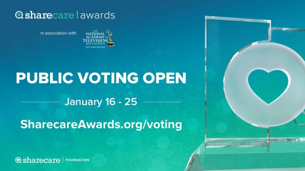 Sharecare Awards Voting, January 16-25, 2019