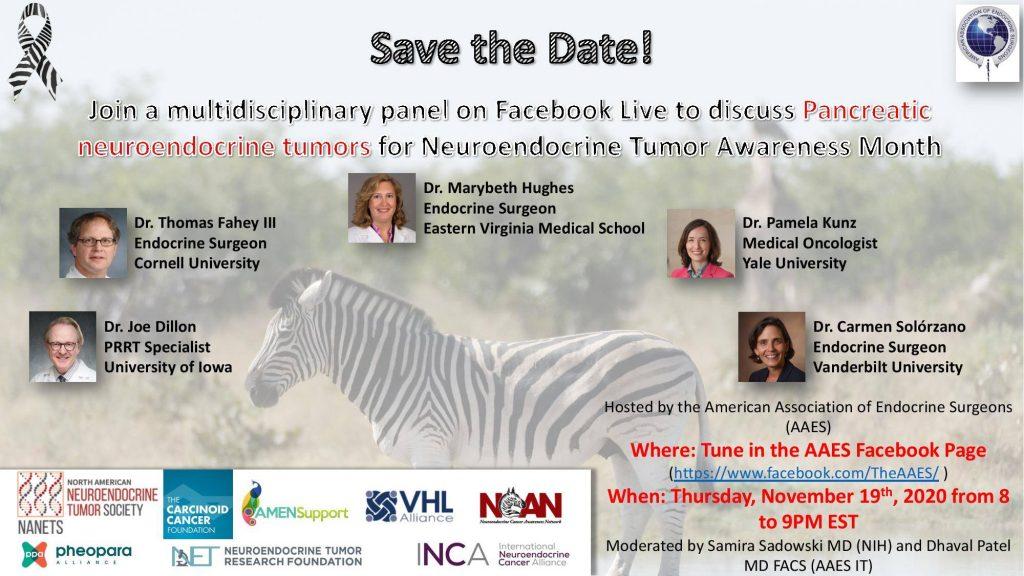 American Association of Endocrine Surgeons, Pancreatic NET program, Nov.19,2020